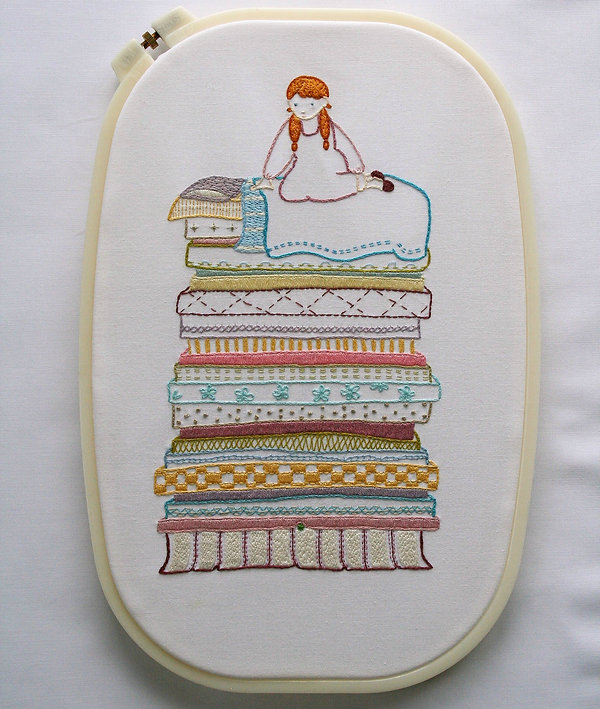 Princess and the Pea Embroidery Sampler