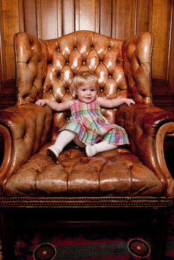 Baby in Overstuffed Chair