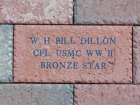 Jamestown Veterans Memorial Brick Example