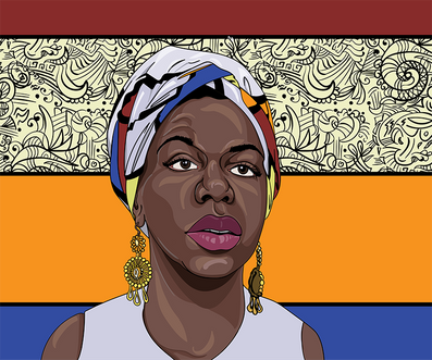 Illustration of Nina Simone