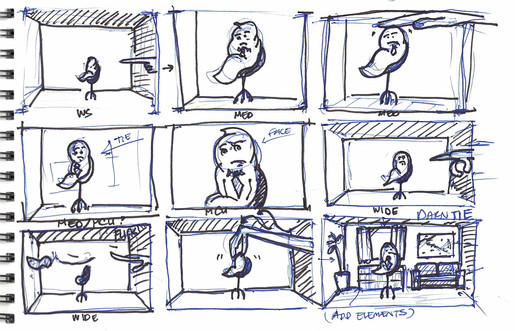 Doodling a Storyboard of sorts...
