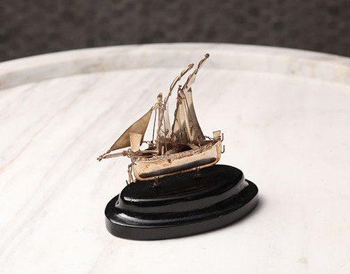 C1900 Sterling Sliver Ship Model