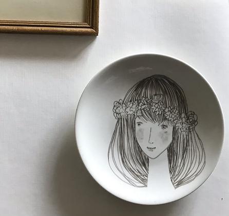Spring girl 🧚🏼♀️ Drawing on porcelain unique