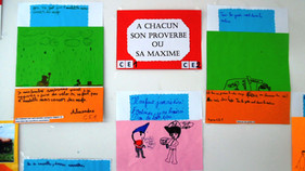 Exposition des élèves des classes du CM2 au CP