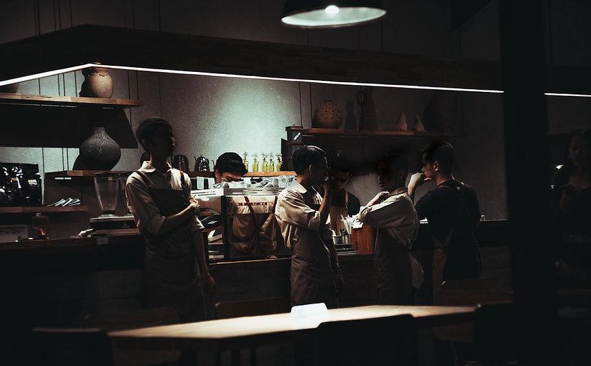 Los trabajadores del restaurante