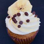 Banana-Walnut-Chocolate Chip Cupcake