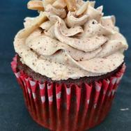 Chocolate-Almond Butter Cupcake