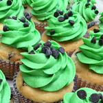 Mint-Chocolate Chip Cupcake