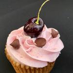 Cherry-Chocolate Chip Cupcake