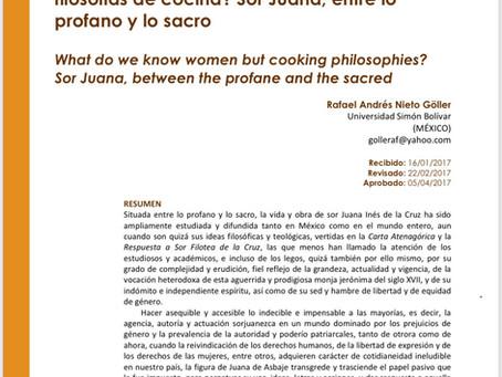 ¿Qué podemos saber las mujeres sino filosofías de cocina? Sor Juana, entre lo profano y lo sacro.