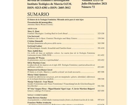 "Revista Carthaginensia sobre ""El Futuro de la Teología Feminista""."