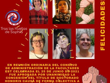 Honoris Causa Colectivo… ¡Enhorabuena compañeras!
