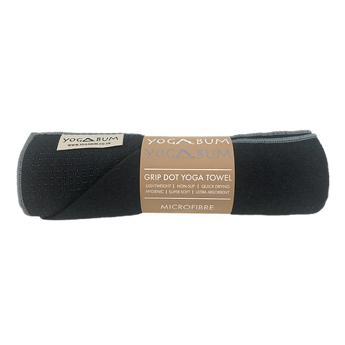 Black - Eco Yoga Towel