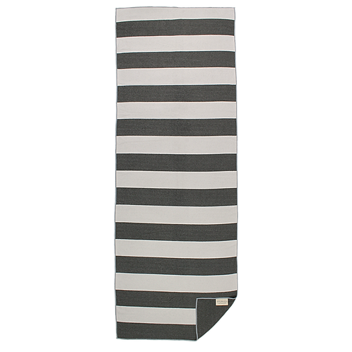 Black & White Striped - Eco Yoga Towel
