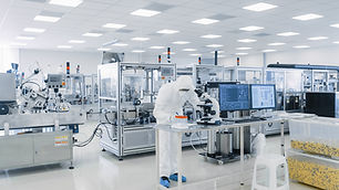 Shot of Sterile Pharmaceutical Manufactu