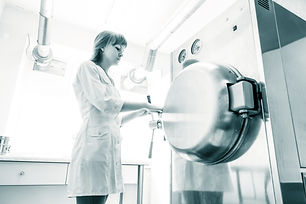 pharmaceutical factory woman worker oper