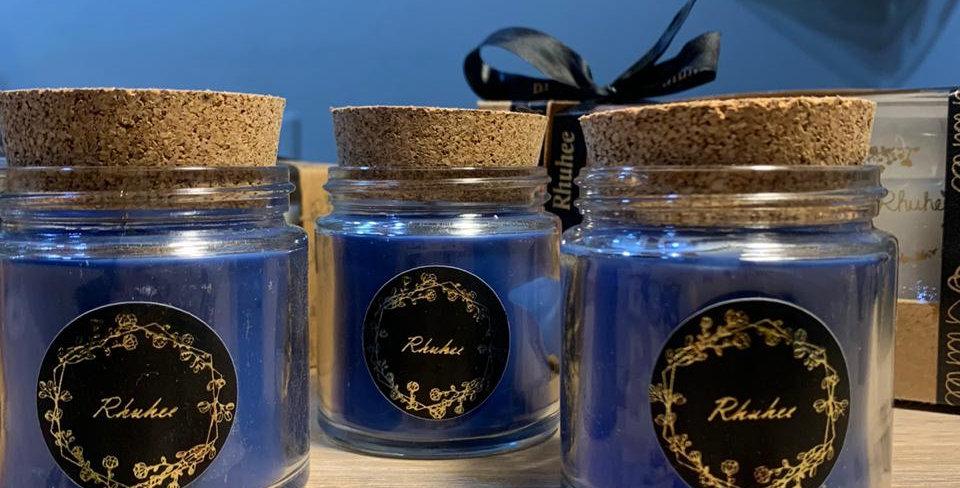 Cork lid - Glass Jar Candles