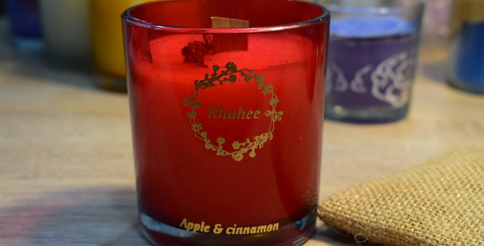 Cranberry and champagne candle Red Jar