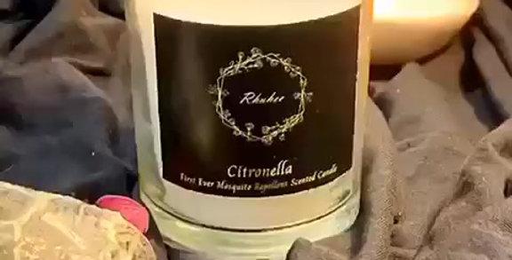 Citronella Mosquito Repellent Candle