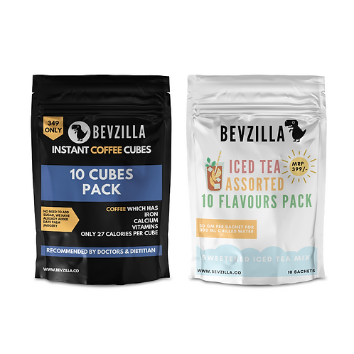 10 Coffee Cubes & Iced Tea Combo