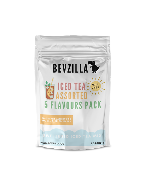 5 Flavours Assorted Pack Iced Tea