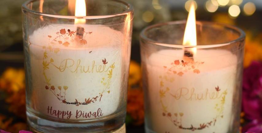 Happy Diwali Candles Set Of 2