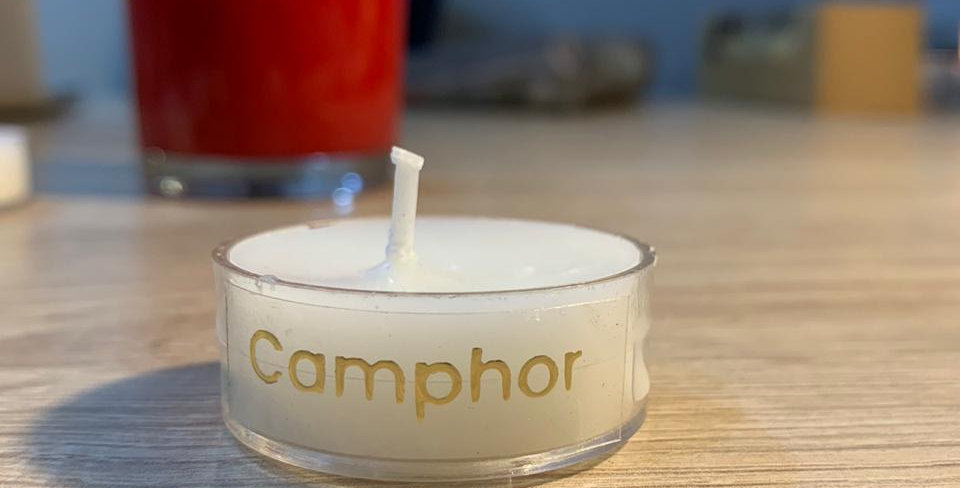 Set of 12 transparent candles