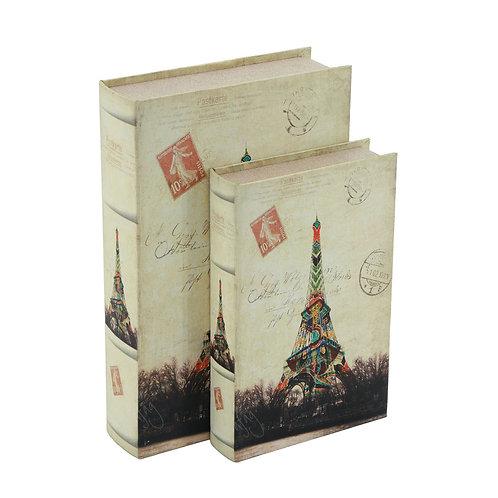 2 Libros - Cajas Decorativas Postales París