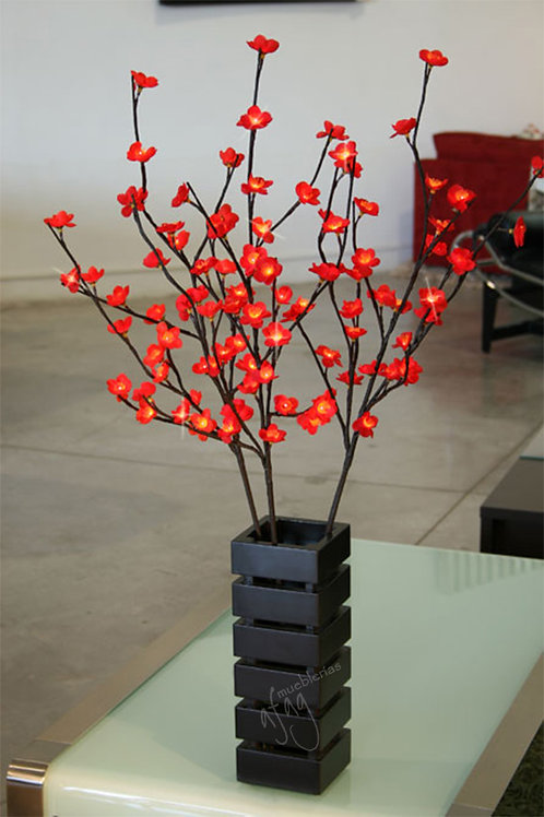 Luminaria Ramas con Flores de Ciruelo