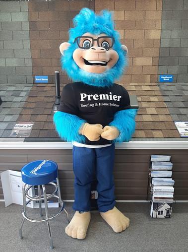 Meet Pitch, Premier Roofings mascot.