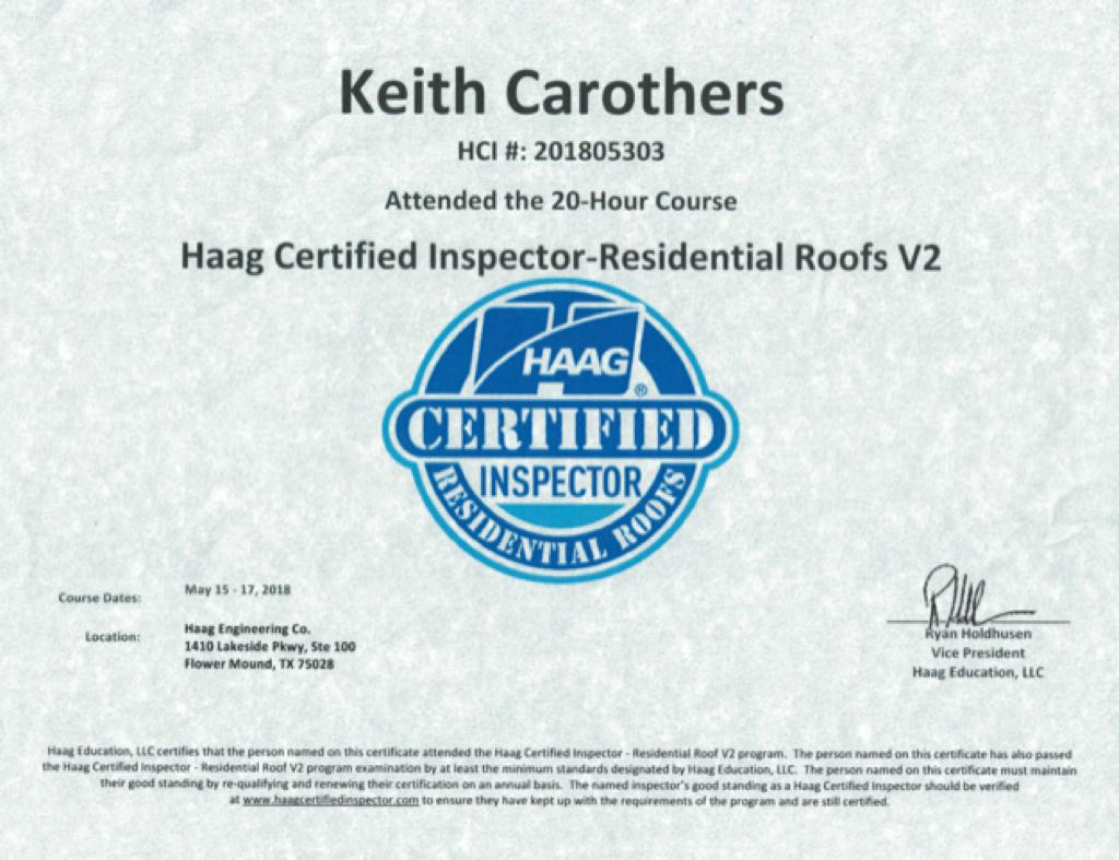 Haag Engineering Certified Residential R