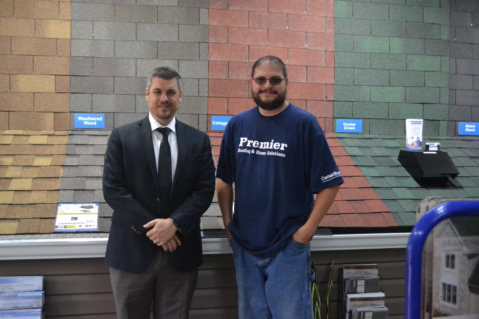 Keith Carothers /owner Premier Roofing, llc with Ken Kinkade / Cabot City Mayor