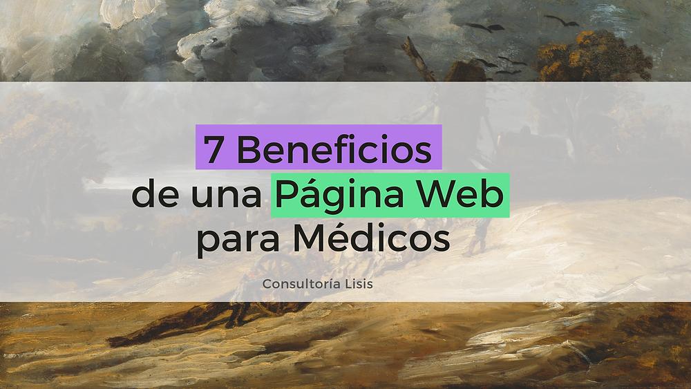 beneficios de una página web para médicos