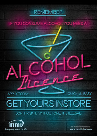 MMI Alcohol Licence Poster