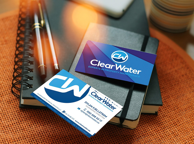 Clear Water Business cards