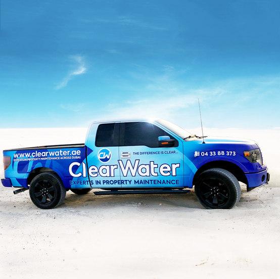 Clear Water F-150 Truck Branding