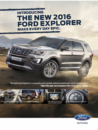 Ford Press and dealer adverts