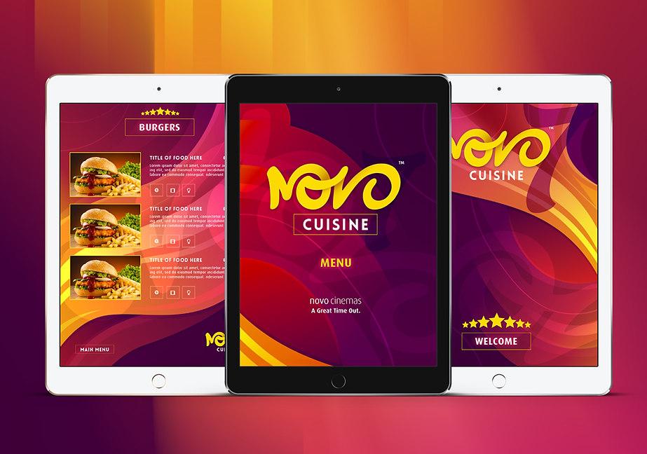 NOVO cinema app layout & design