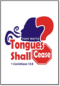 Tongues Shall Cease Cover Front Only wit