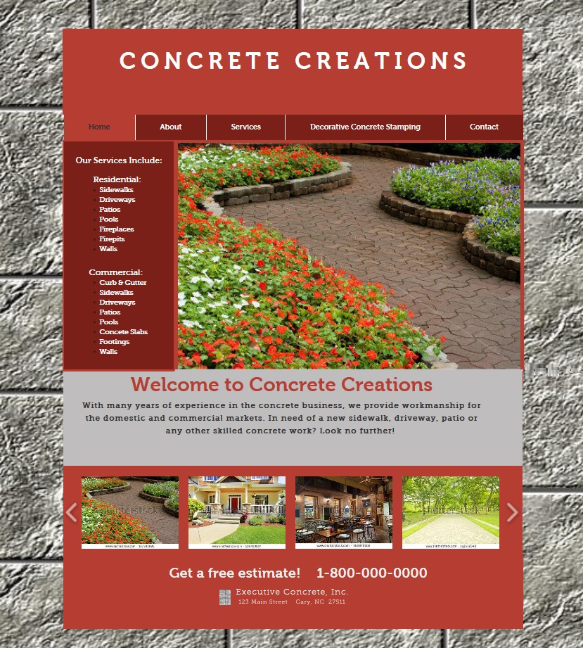 Concrete Creations Website