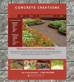Concrete Creations Website
