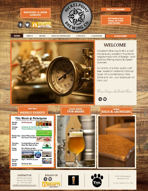 Nickelpoint Brewing Website