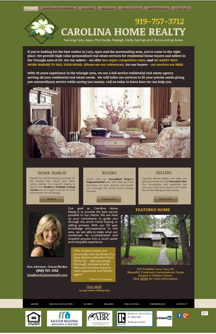 Carolina Home Realty Website