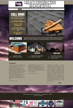 Legacy Roofing Website
