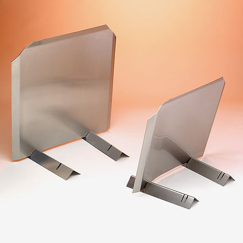 "Stainless Radiant Fireback - 18""w x 16""h"