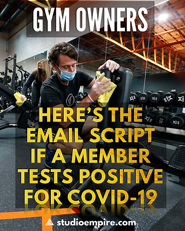 Email Script for Positive COVID Member A