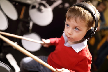 Young Drum Student