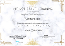 Copy of Peridot Beauty Training BY donna