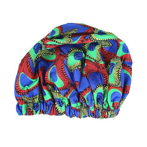 Satin Lined Ankara Print Bonnet