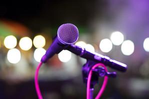 microphone sur scène